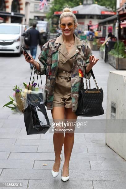Ashley Roberts seen leaving the Global Radio Studios on June 04 2019 in London England