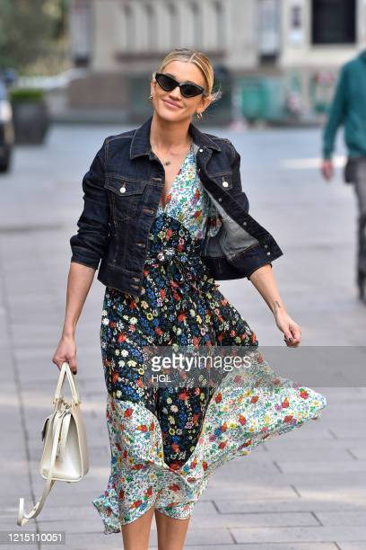 Ashley Roberts seen leaving the Global studios after the Heart radio Breakfast show on March 27 2020 in London England