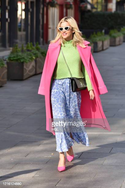 Ashley Roberts seen leaving the Global studios after the Heart radio Breakfast show on April 01, 2020 in London, England.