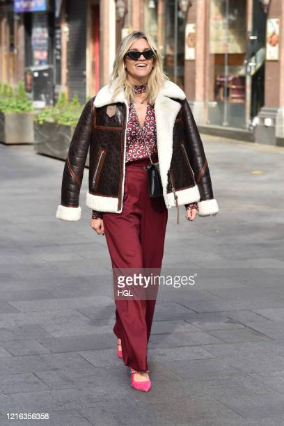 Ashley Roberts seen leaving the Global studios after the Heart radio Breakfast show on April 02 2020 in London England