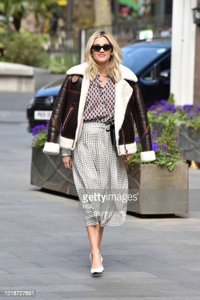 Ashley Roberts seen leaving the Global studios for her Smooth Radio show on April 14 2020 in London England