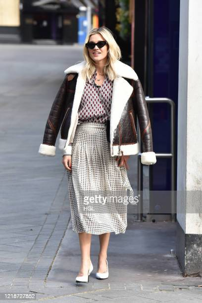 Ashley Roberts seen leaving the Global studios for her Smooth Radio show on April 14, 2020 in London, England.