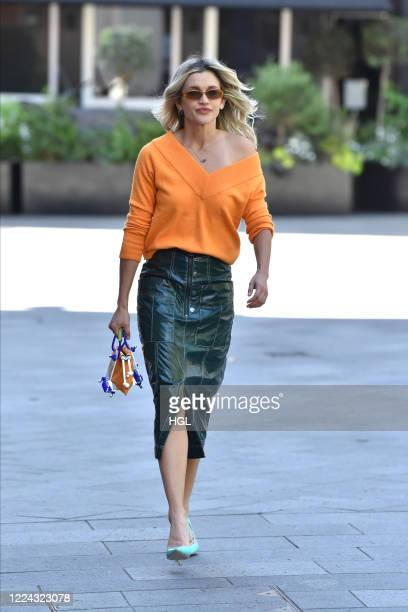 Ashley Roberts seen leaving the Global studios on May 12, 2020 in London, England.