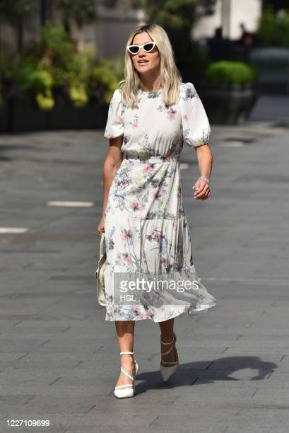 Ashley Roberts seen leaving the Global studios sighting on May 26, 2020 in London, England.