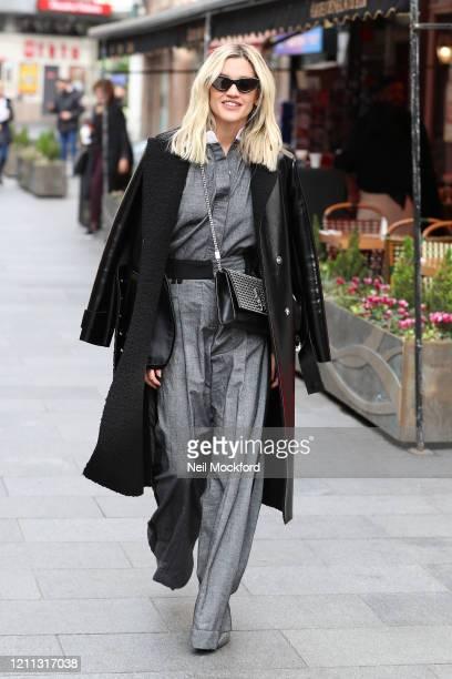 Ashley Roberts seen leaving the Heart Breakfast Radio Studios on March 09, 2020 in London, England.
