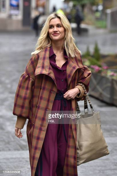 Ashley Roberts seen leaving the Heart radio studios on February 24 2020 in London England