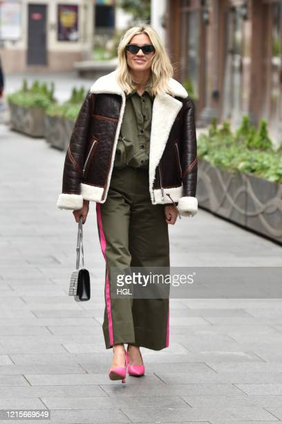Ashley Roberts seen leaving the Heart radio studios on March 30 2020 in London England