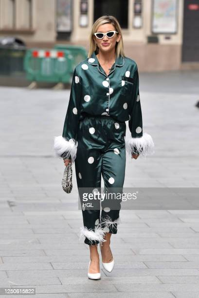 Ashley Roberts seen outside Global Radio on Global's Make Some Noise Emergency Appeal Day on June 19, 2020 in London, England.
