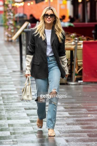 Ashley Roberts seen outside the Global radio studios on July 12, 2021 in London, England.