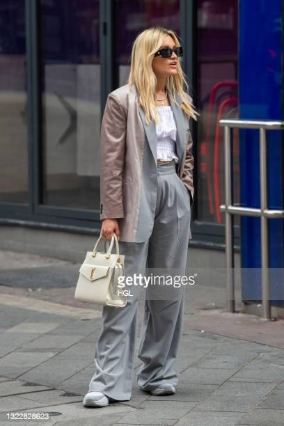 Ashley Roberts seen outside the Global Radio studios on June 10, 2021 in London, England.