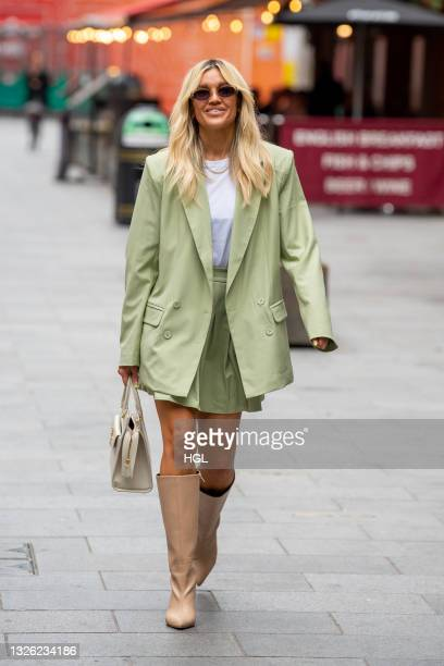 Ashley Roberts seen outside the Global Radio studios on June 30, 2021 in London, England.
