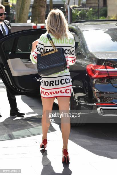 Ashley Roberts seen outside the Global Studios on May 20, 2020 in London, England.
