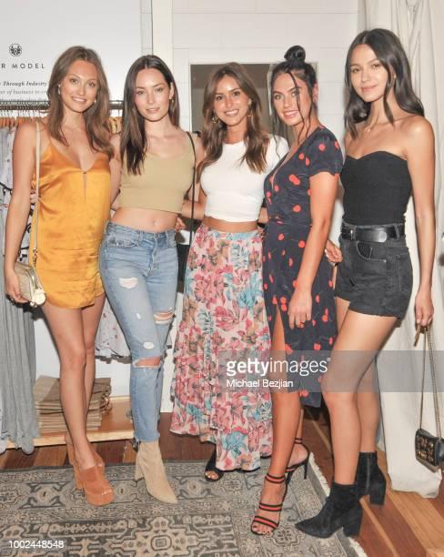 Ashley Rodgers Chandler Bailey Gigi Paris Caleyrae Pavillard and Dakota Duffy attend Kindom Summer Soiree at Alchemy Works on July 19 2018 in Los...