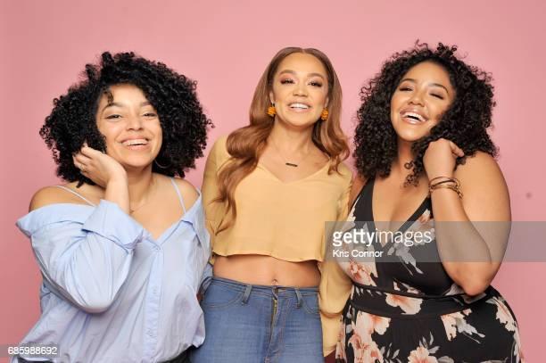 Ashley Rodriguez Chanta Patton and Elianna Ayala attend Beautycon Festival NYC 2017 Portraits at Brooklyn Cruise Terminal on May 20 2017 in New York...