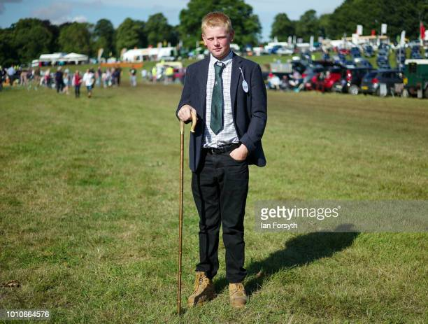 Ashley Rushton from Derbyshire poses for a picture before judging the North County Cheviot section during 152nd the Ryedale Country Show on July 31...