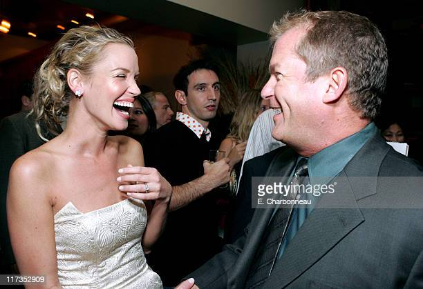 Ashley Scott and Dan Taylor of MGM during MGM Pictures and Columbia Pictures 'Into the Blue' Premiere After Party at Napa Valley Grill in Westwood...
