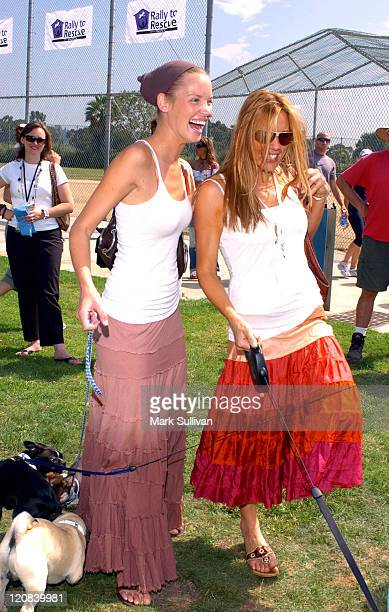 Ashley Scott and Krista Allen during Purina's Rally To Resuce 2005 Purple Carpet at Barrington Recreational Center in Brentwood California United...