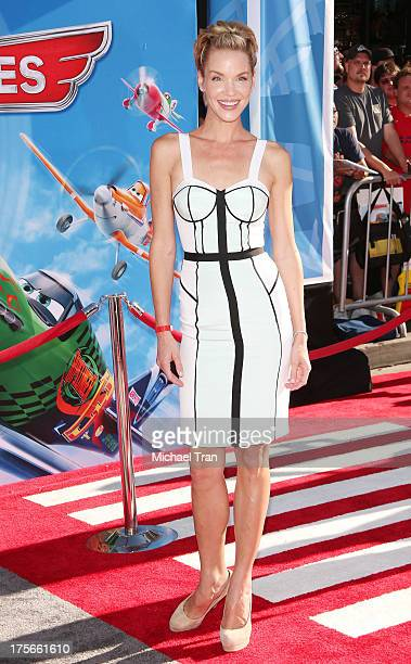 Ashley Scott arrives at the Los Angeles premiere of 'Planes' held at the El Capitan Theatre on August 5 2013 in Hollywood California