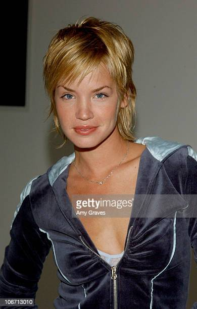Ashley Scott during 2003 Smashbox Fashion Week Los Angeles H Starlet Spring Collection 2004 Backstage at Smashbox in Culver City California United...
