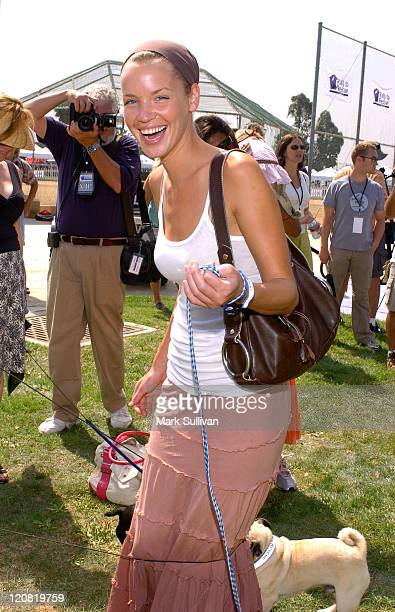 Ashley Scott during Purina's Rally To Resuce 2005 Purple Carpet at Barrington Recreational Center in Brentwood California United States