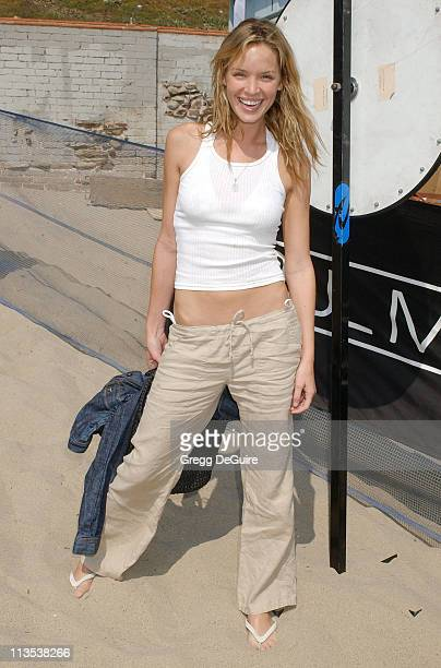 Ashley Scott during The Rip Curl Malibu Pro Hosts 'Celebrity Surf 'Bout' Arrivals at Malibu Surfrider Beach in Malibu California United States