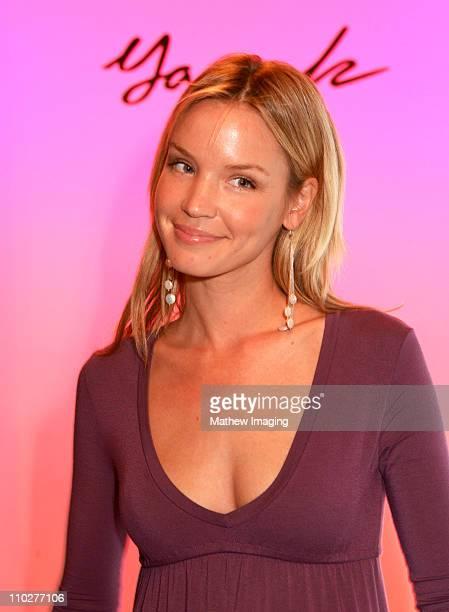 Ashley Scott front row at Yana K Spring 2006 during MercedesBenz Spring 2006 LA Fashion Week at Smashbox Studios Yana K Front Row and Backstage at...