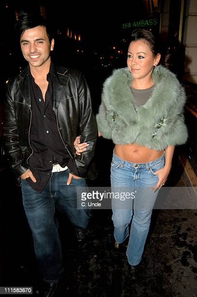 Ashley Scott Lee and Lisa Scott Lee during Celebrity Sighting at the Ivy February 24 2005 at The Ivy in London Great Britain