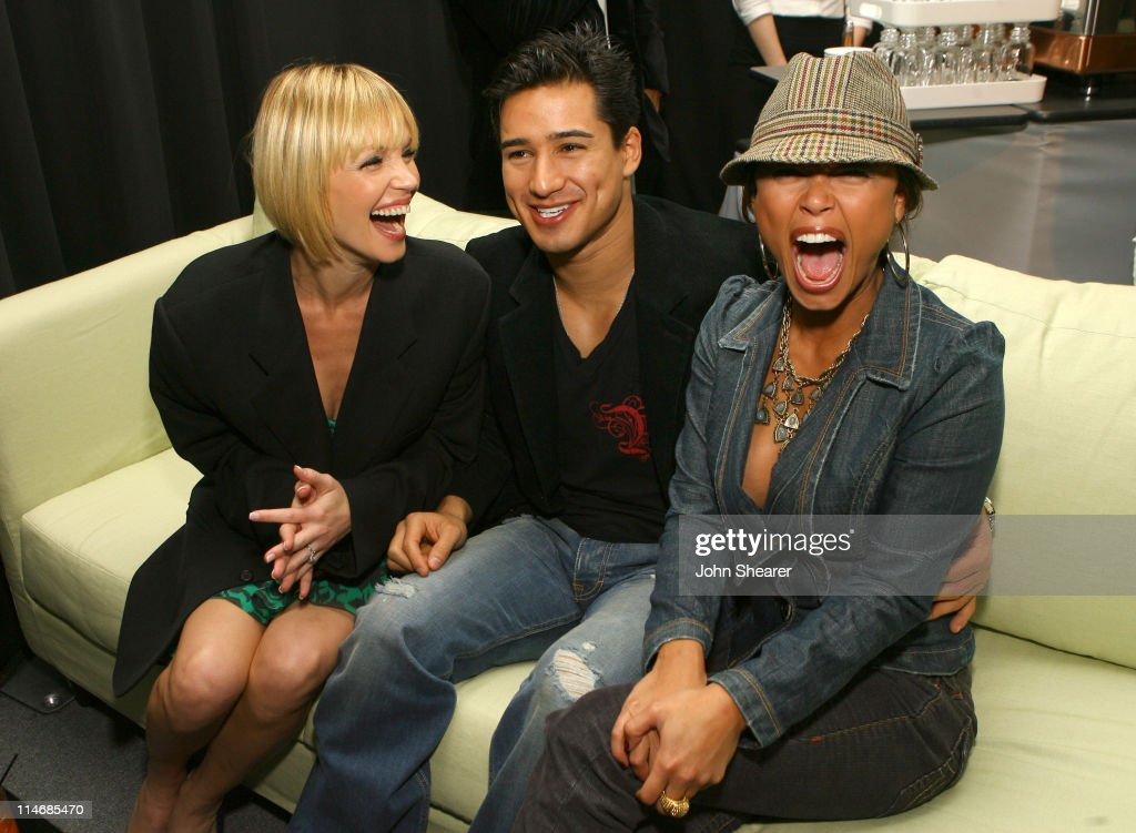 Ashley Scott, Mario Lopez and Vanessa Minnillo during 2007 GM Style - Backstage at GM Pavilion in Detroit, Michigan, United States.