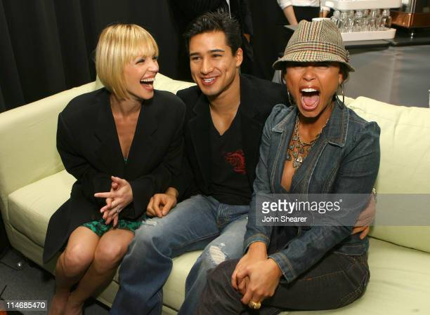 Ashley Scott Mario Lopez and Vanessa Minnillo during 2007 GM Style Backstage at GM Pavilion in Detroit Michigan United States