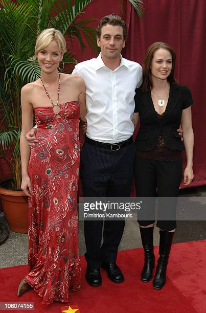 Ashley Scott Skeet Ulrich and Sprague Grayden during CBS 2006/2007 Upfront Red Carpet at Tavern on the Green in New York City New York United States