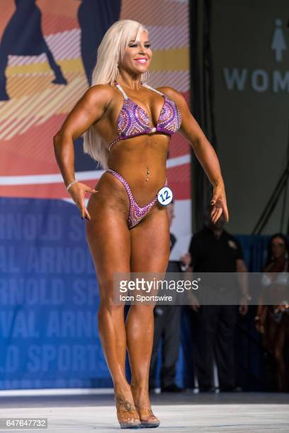 Ashley Sebera , also known as WWE Superstar Dana Brooke, competes in Fitness International as part of the Arnold Sports Festival on March 3 at the...