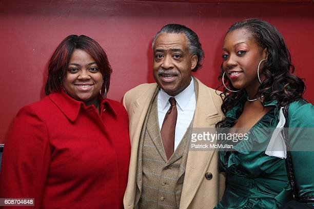 Ashley Sharpton Al Sharpton and Dominique Sharpton attend Private Screening of THE GREAT DEBATERS at Cinema 2 on December 12 2007 in New York City