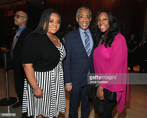 Ashley Sharpton Al Sharpton and Dominique Sharpton attend the premiere screening of Night One of the four night epic event series Roots hosted by...