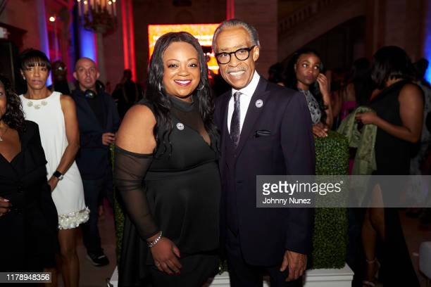 Ashley Sharpton and Reverend Al Sharpton attend Reverend Al Sharpton's 65th Birthday Celebration at New York Public Library on October 03, 2019 in...