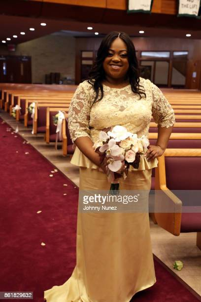 Ashley Sharpton attends Dominique Sharpton And Dr Marcus Bright's wedding ceremony on October 15 2017 in New York City