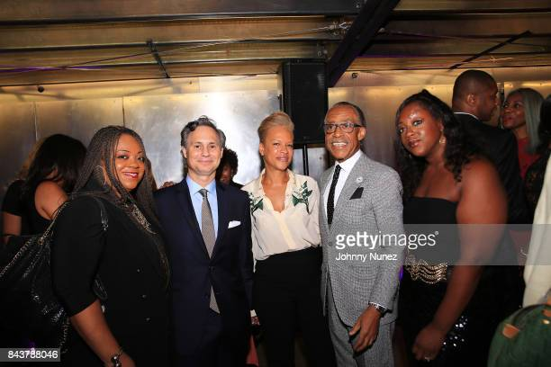Ashley Sharpton Jason Binn Tonya Lewis Lee Rev Al Sharpton and Domnique Sharpton Attend The Aisha McShaw New York Fashion Week Show at Prince George...