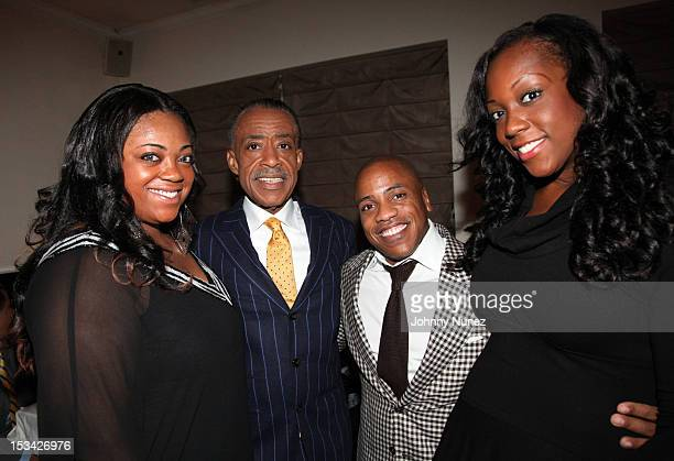 Ashley Sharpton Rev Al Sharpton Kedar Massenburg and Dominique Sharpton celebrate Rev Al Sharpton's birthday at Philippe Chow on October 4 2012 in...