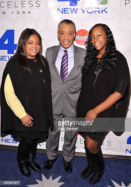 Ashley Sharpton television personality Al Sharpton and Dominique Sharpton attend Rockefeller Center Christmas Tree Lighting Party at Rock Center Cafe...