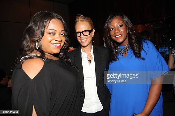 Ashley Sharpton Tonya Lewis Lee and Dominique Sharpton attend Al Sharpton's 60th Birthday Celebration at Four Seasons Hotel New York on October 1...