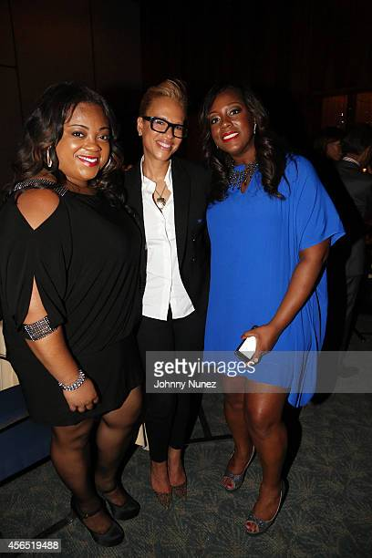 Ashley Sharpton, Tonya Lewis Lee, and Dominique Sharpton attend Al Sharpton's 60th Birthday Celebration at Four Seasons Hotel New York on October 1,...