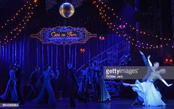 Ashley Shaw as Cinderella and Andrew Monaghan as Harry with artists of the company in Matthew Bourne's Cinderella at Sadler's Wells Theatre on...
