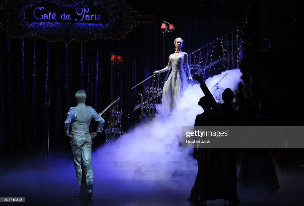 Ashley Shaw as Cinderella with artists of the company in Matthew Bourne's Cinderella at Sadler's Wells Theatre on December 15, 2017 in London, England.