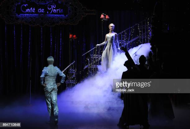 Ashley Shaw as Cinderella with artists of the company in Matthew Bourne's Cinderella at Sadler's Wells Theatre on December 15 2017 in London England