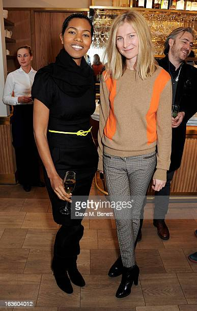 Ashley Shaw Scott and Elizabeth von Guttman attend a private lunch to celebrate US fashion brand Maiyet at The Corner Restaurant Champagne Bar in...