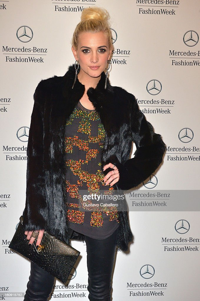 Ashley Simpson is seen during Fall 2013 Mercedes-Benz fashion week at Lincoln Center on February 7, 2013 in New York City.