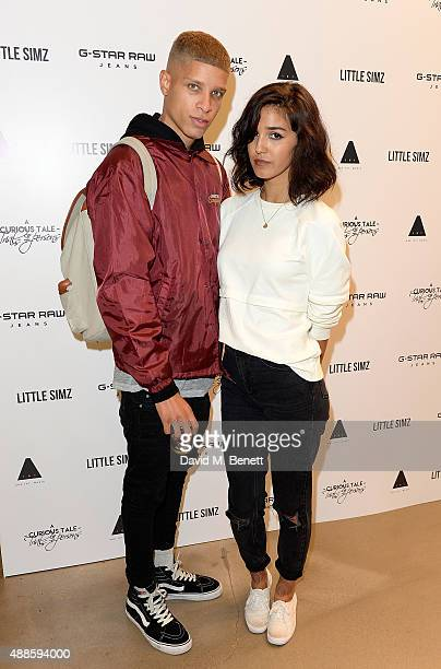 Ashley Sky and boyfriend attend the Little Simz x GStar RAW instore album launch for 'A Curious Tale of Trials Persons' on September 16 2015 in...