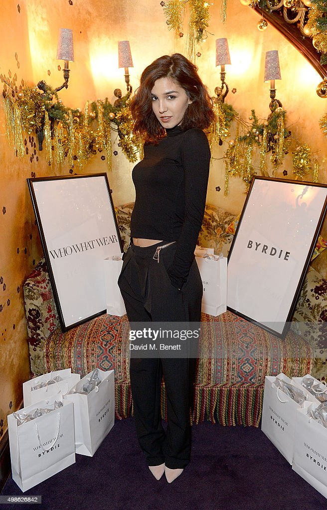 Ashley Sky attends the WhoWhatWear UK Launch at Loulou's on November 24, 2015 in London, England.