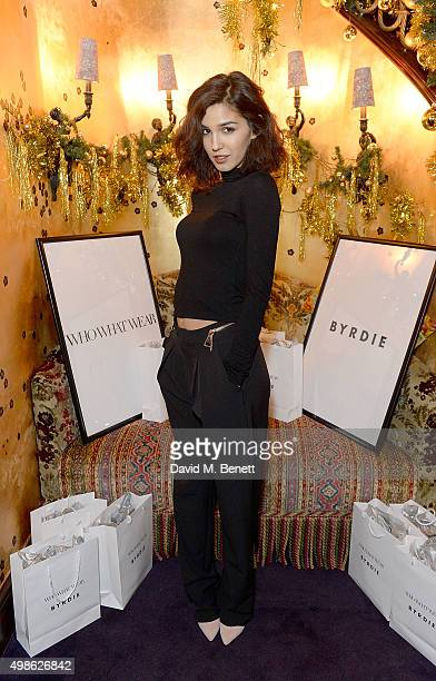 Ashley Sky attends the WhoWhatWear UK Launch at Loulou's on November 24 2015 in London England