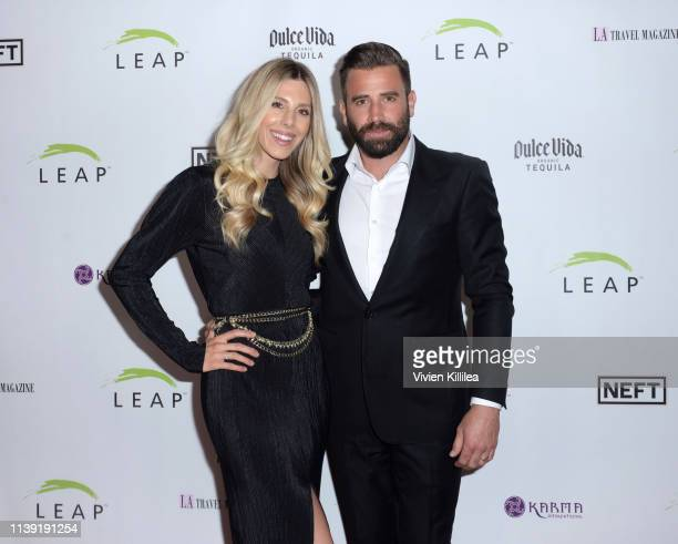 Ashley Slack and Jason Wahler attend The LEAP Foundation's Gala at Smashbox Studios on April 24 2019 in Culver City California