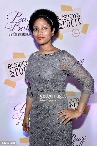Ashley Sousa attends the Busboys and Poets' Peace Ball Voices of Hope and Resistance at National Museum Of African American History Culture on...
